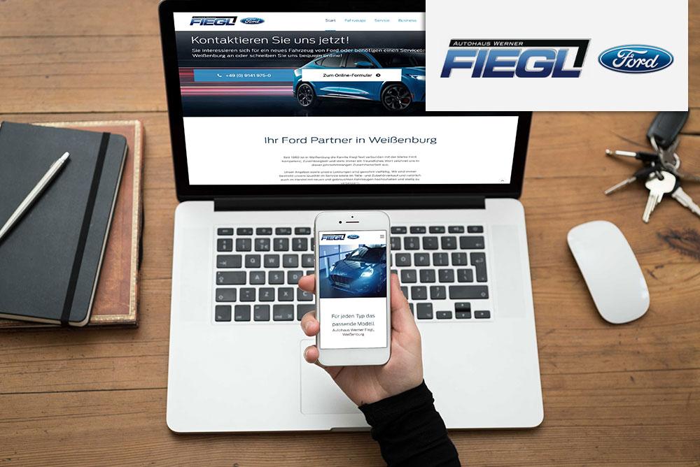 Autohaus Werner Fiegl GmbH, WebDESIGN Weißenburg